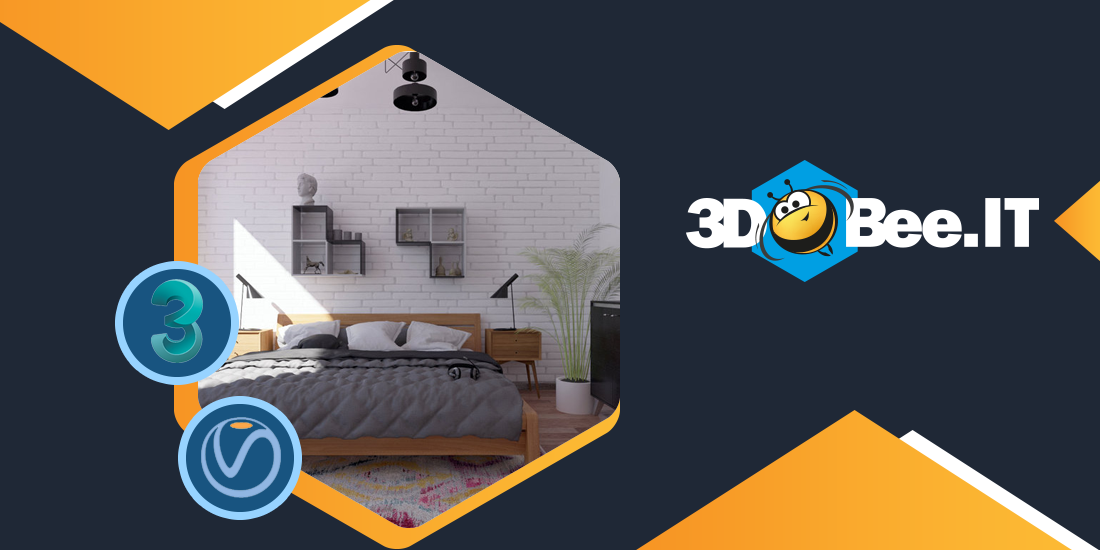Photorealistic Bedroom Visualization Created in 30m Using 3ds Max + V-Ray + 3DBee